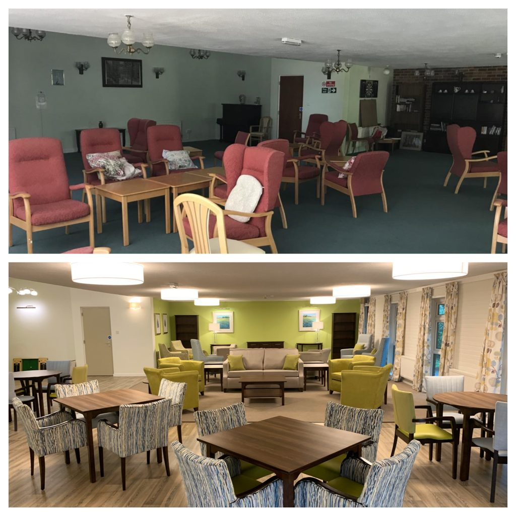 Before and after Merbury Close