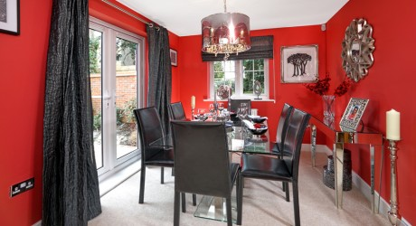 Ifield black and red dining room