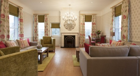 Sussex Care Home Relatives' Lounge after