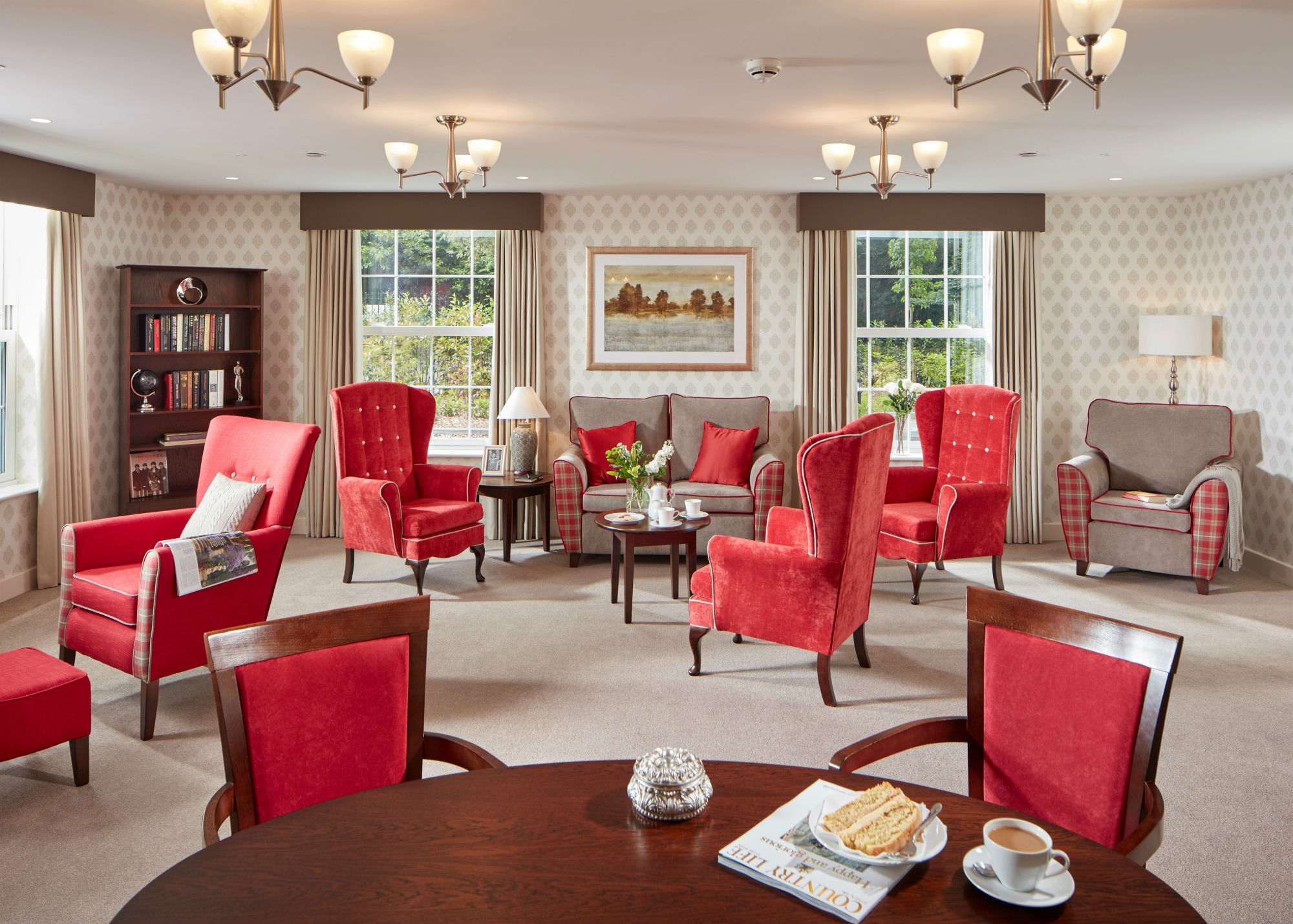 Homesmiths mental health dementia facilities magazine for Nursing home dining room ideas