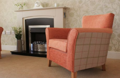Fireplace in care home