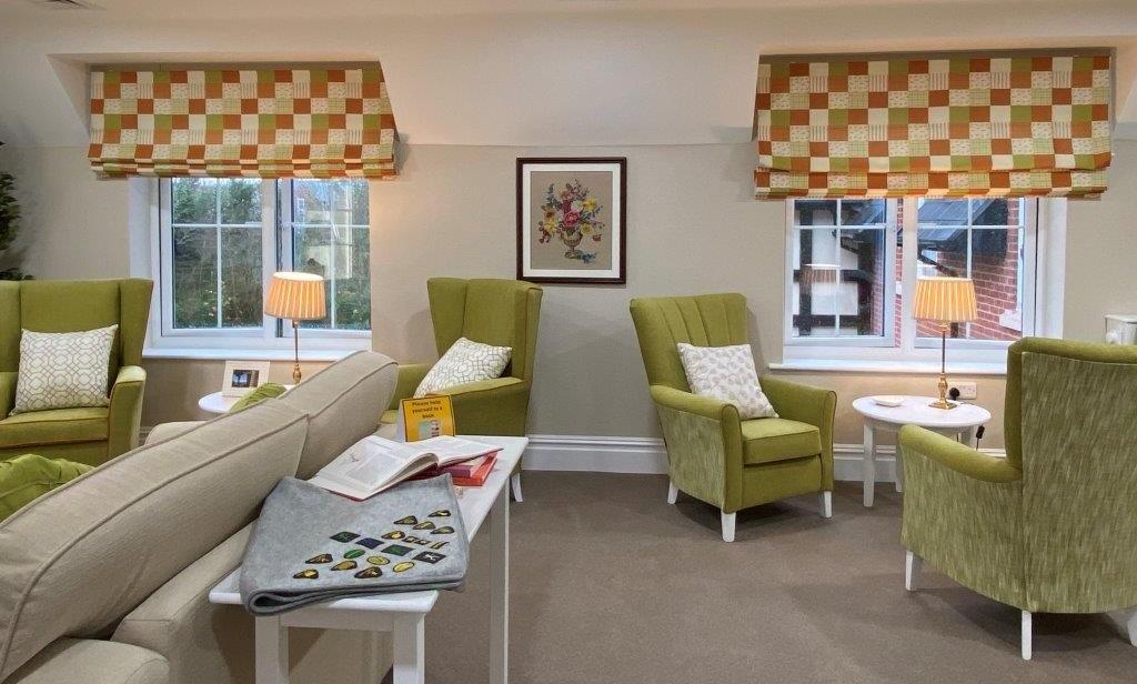 Craft Lounge showing brownie blanket