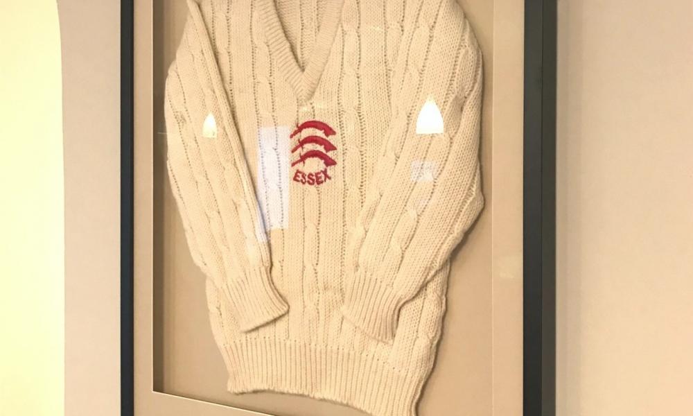Framed cricket sweater for art