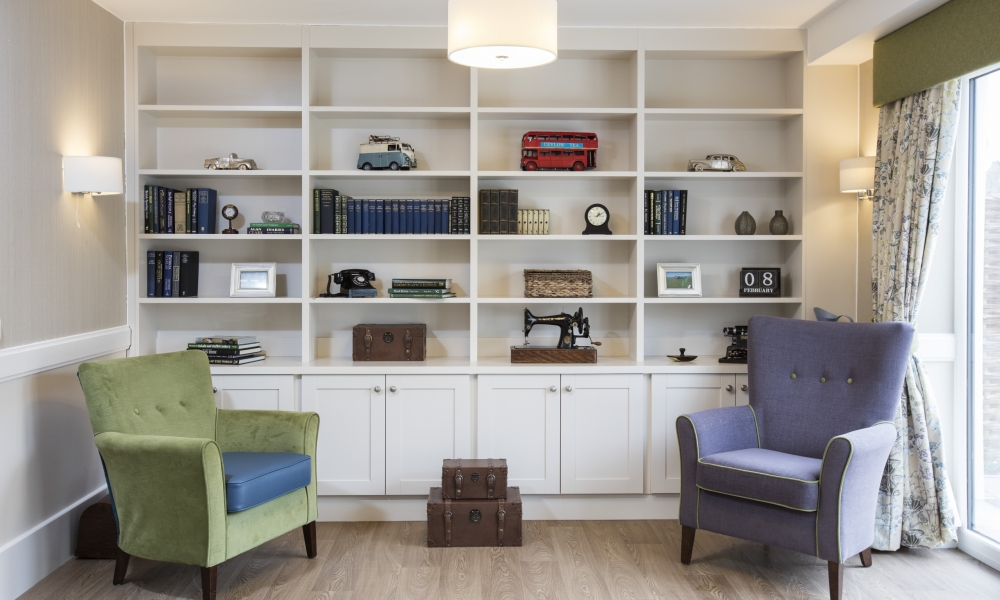 Library in a Dementia Care Home